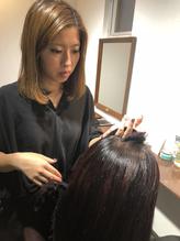 頭皮環境、髪の毛の状態をチェック、ヒアリング